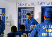 """Clear eyes, full hearts, can't lose!"""