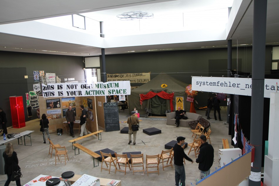 Occupy Biennale.  Image courtesy of ACCA art blog.